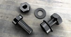 Titanium threaded fasteners nuts, bolts, and washer