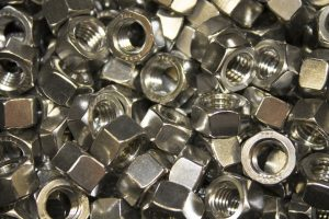 Collage of nuts (fasteners)
