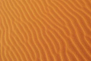 A picture of sand from the desert.