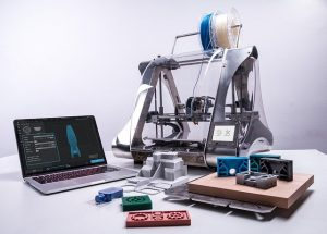 3D printer with thermoplastic material