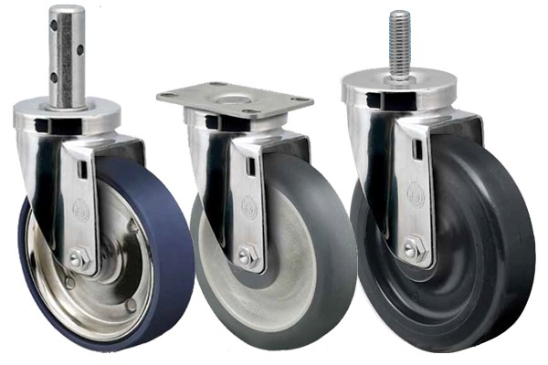 Three Stainless Steel Casters