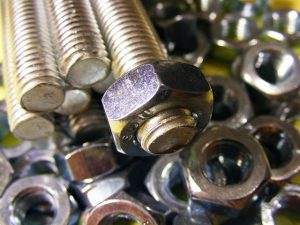 Collection of machine screws with nuts
