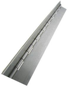 Stainless steel piano hinge by Monroe Engineering