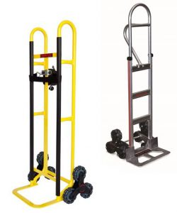 Stair-climbing hand trucks by Monroe Engineering
