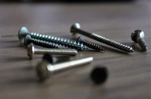 Screws with slotted drives